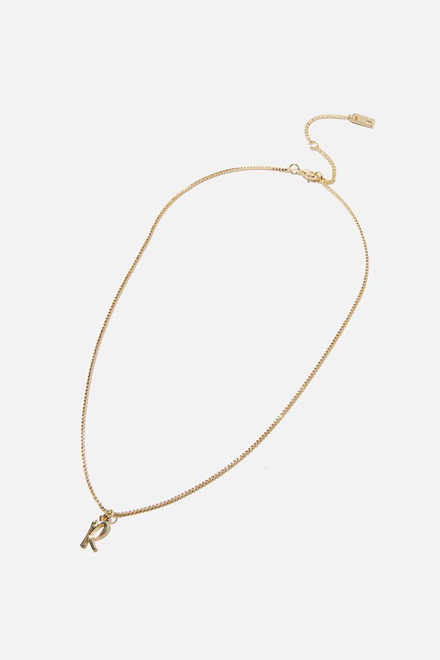 Premium Pendant Necklace, GOLD PLATED R