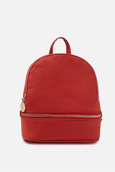 Mini Mia Backpack, POPPY RED