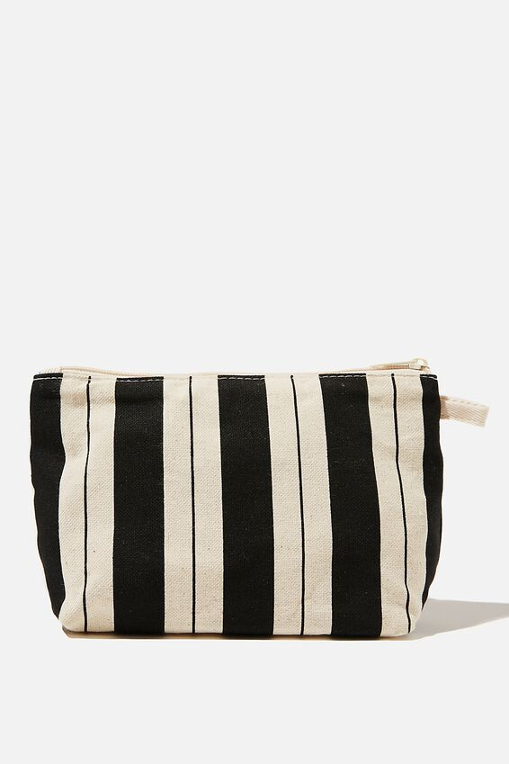 Cosmetic Pouch, BIKEY STRIPE BLACK
