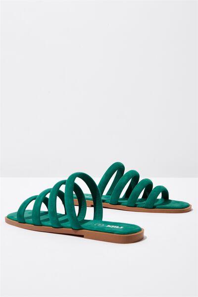 Chole Strappy Sandal, GREENERY MICRO