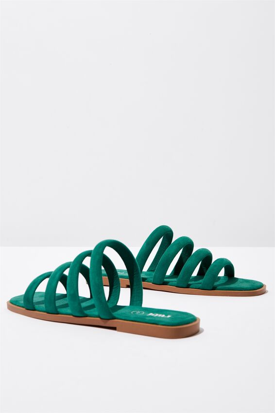 Chole Strappy Sandal, GREENERY MICRO
