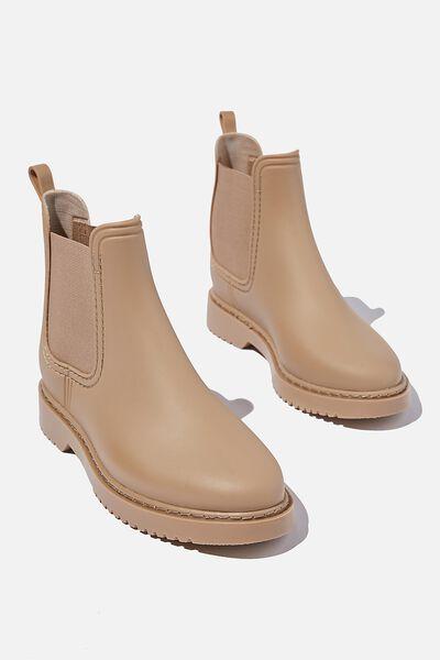 Camille Gusset Rain Boot, CAMEL