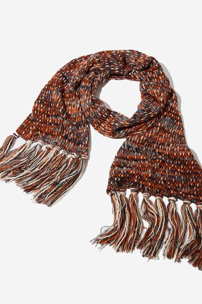Nicky Knitted Scarf, ECLIPSE MIX