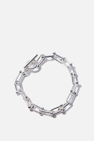 Luxe Layers Paper Chain Bracelet, SILVER