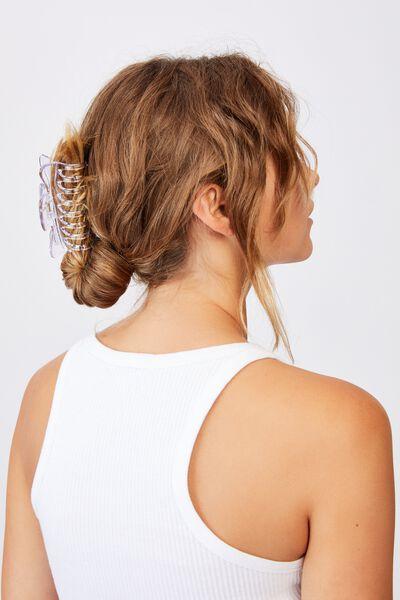 Kiley Hair Claw, TRANSPARENT COOL BLUE