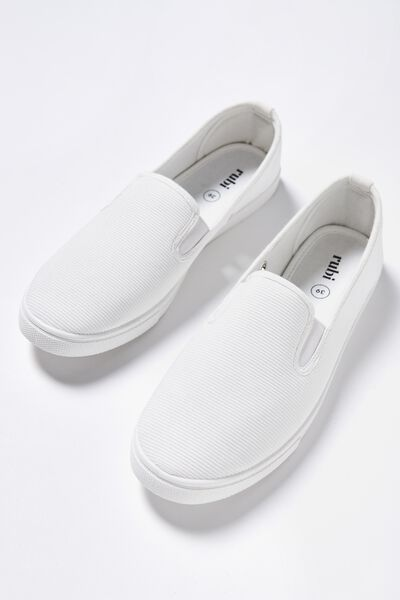 Hazel Slip On Sneaker, WHITE CORD