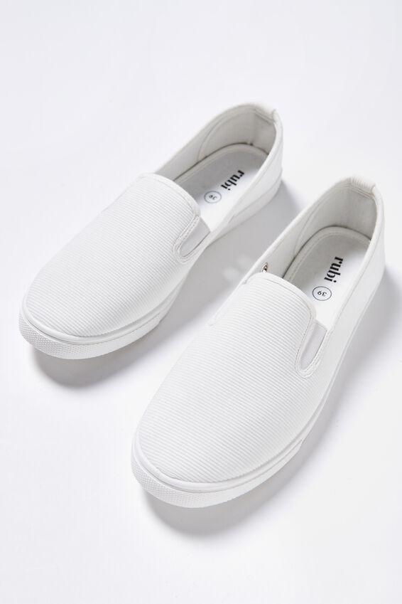 Hazel Slip On Sneaker, WHITE CORD