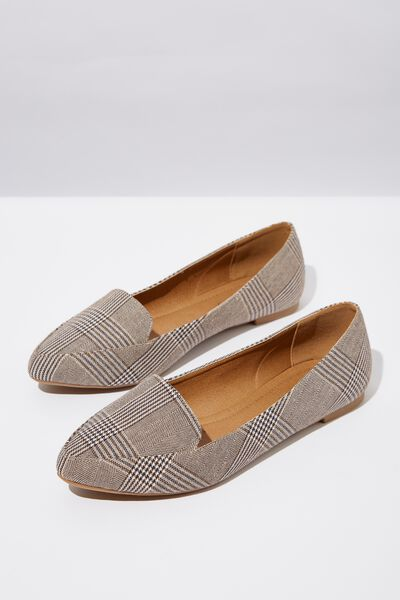 Peta Point Loafer, POW BROWN CHECK