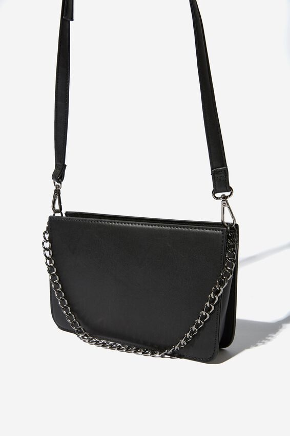 In Chains Cross Body Bag, BLACK