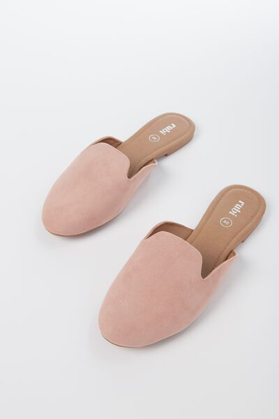 Sally Slipper Mule, DARK BLUSH MICRO