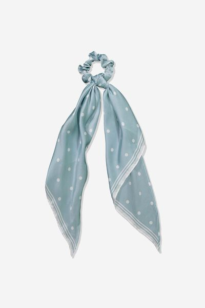 New York Convertible Scrunchie, SAGE GREEN SPOT