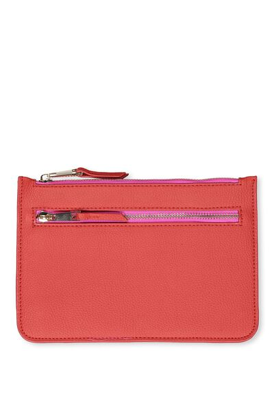 Queens Clutch Purse, POPPY RED