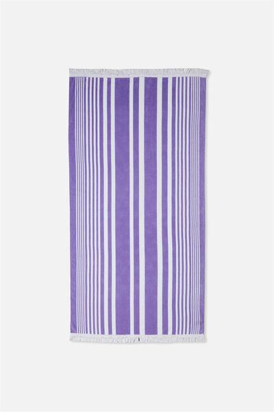 Love A Classic Towel, VIOLET FIZZ SANDY STRIPE