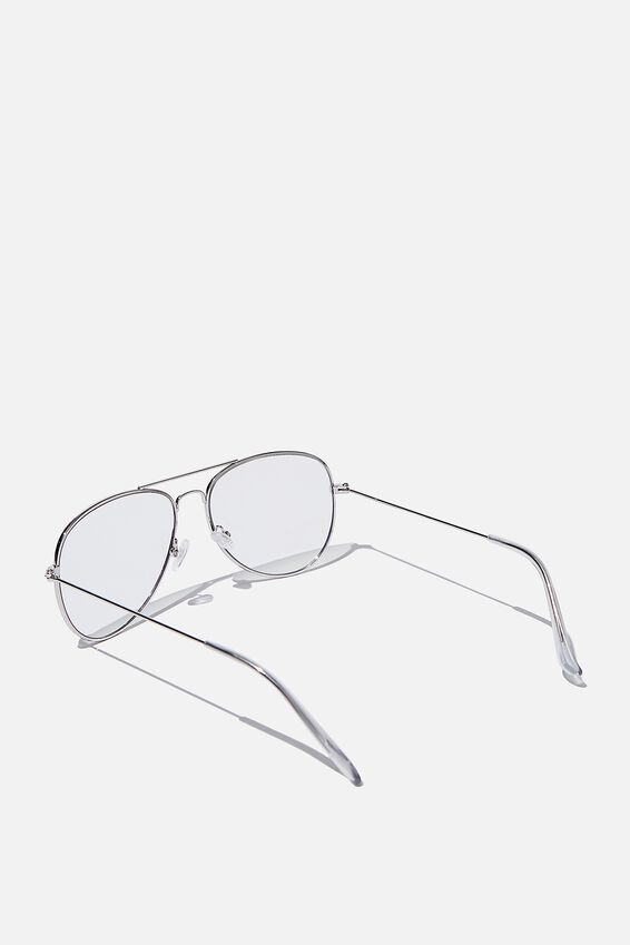 Arabella Blue Light Blocking Glasses, SILVER