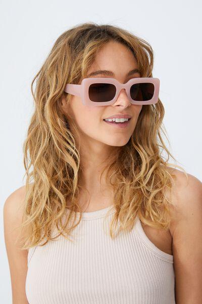 Gigi Square Sunglasses, PEACH