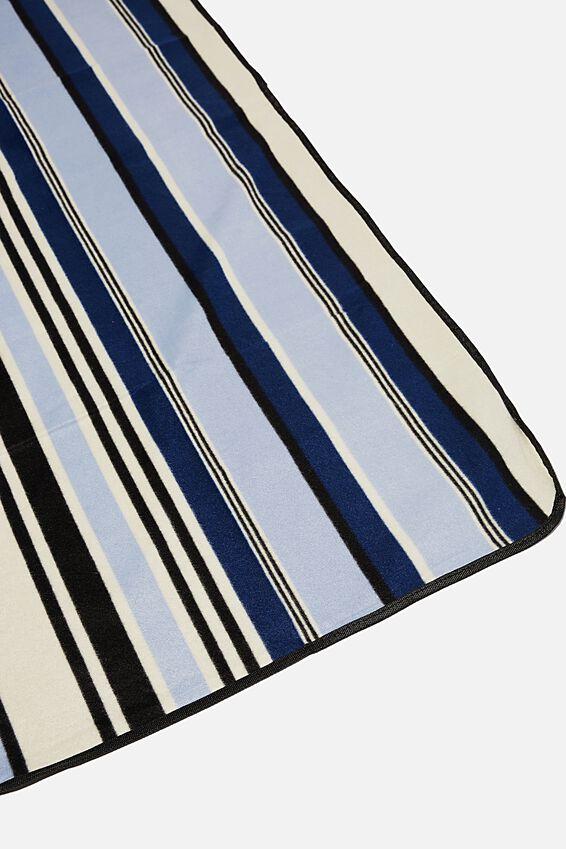 Picnic Blanket, NAVY STRIPE