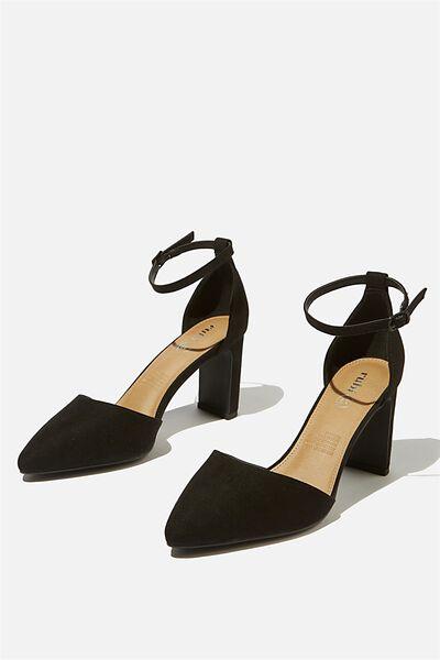 Jeanne Closed Toe Heel, BLACK MICRO