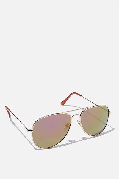 Arabella Metal Sunglasses, PURPLE REVO