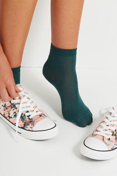 Dorothy Sparkle Sock, JUNGLE GREEN