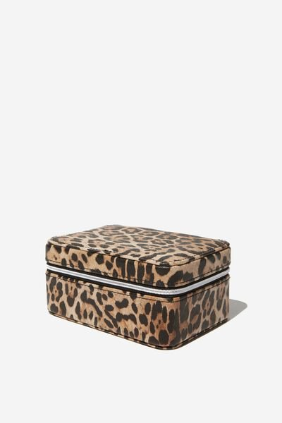 Medium Jewellery Box, NATURAL LEOPARD
