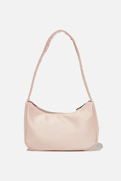 Nylon Underarm Bag, NUDE