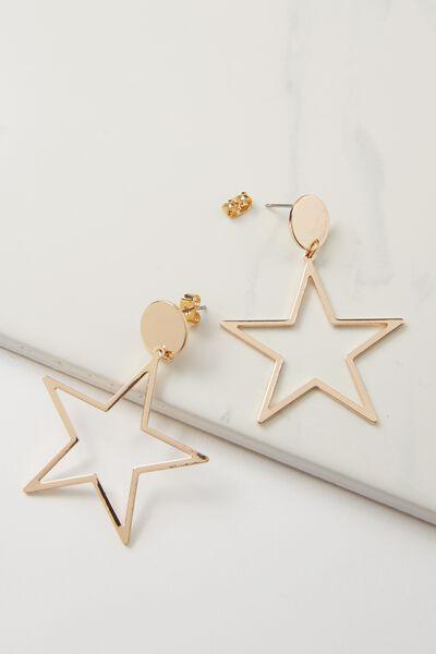 Quinn Star Earring, GOLD