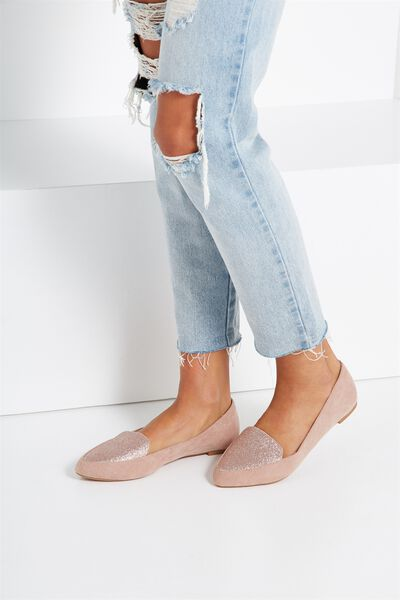 Peta Point Loafer, BLUSH GLITTER MULTI