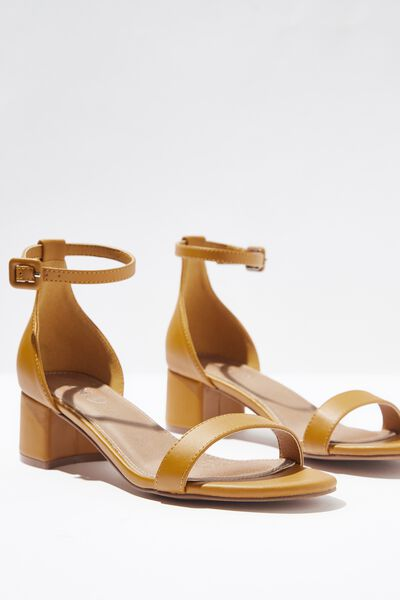 Lizzie Low Block Heel, MUSTARD
