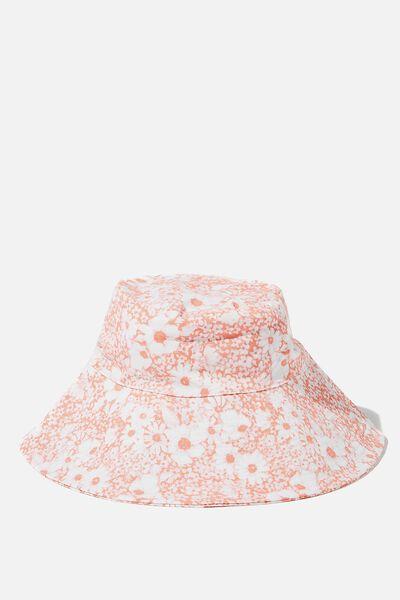 Zahra Wide Brim Sun Hat, PRISM PINK GENTLE DAISY