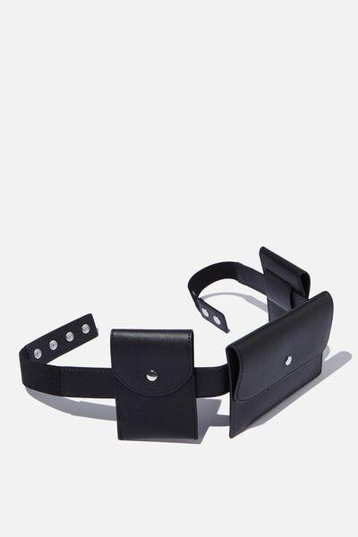 Utility Belt Bag, BLACK