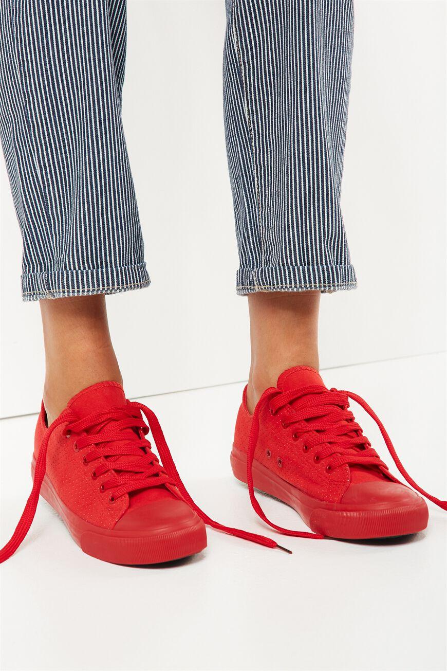 Jodi Low Rise Sneaker 1, RED MICRO MONO