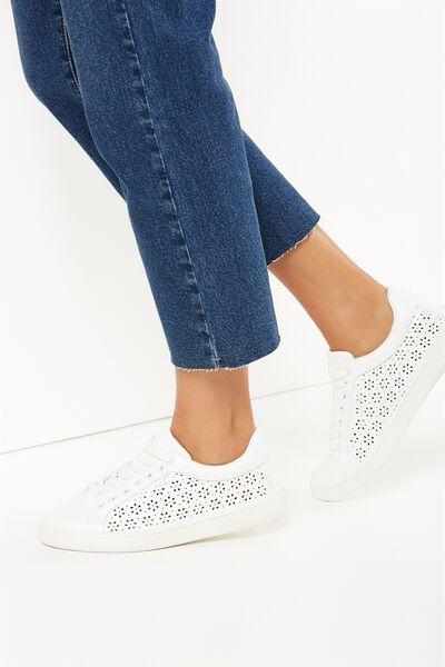 Cathryn Sneaker, WHITE LAZER