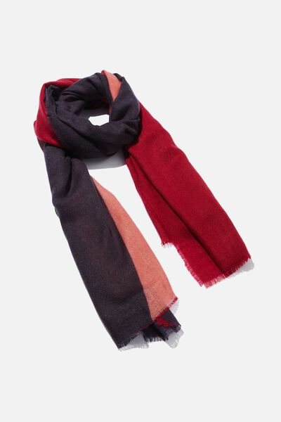 Maddie Mid Weight Scarf, COLOUR BLOCK