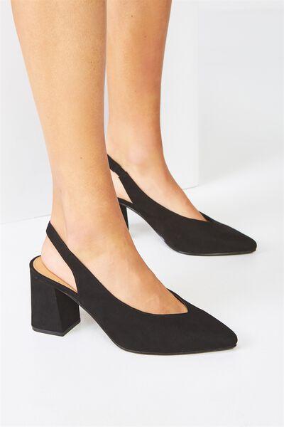 Davis Block Heel, BLACK MICRO
