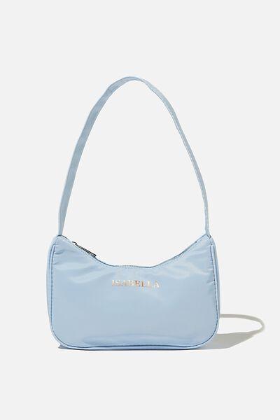 Personalised Nadia Underarm Bag, SUN FADED DENIM