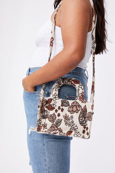 Mini Weekender Tote Bag, FLORAL