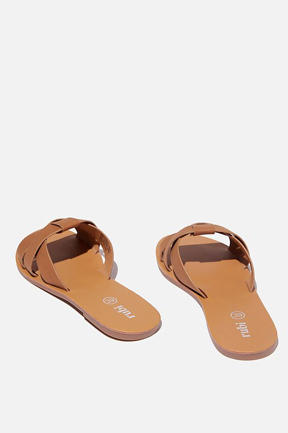 Luna Interlock Slide, TAN NUBUCK