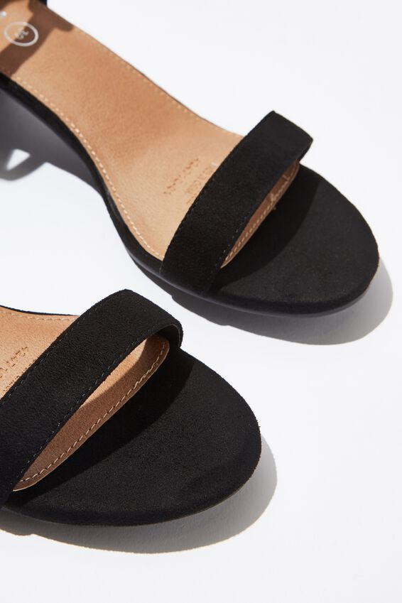 Lizzie Low Block Heel, BLACK MICRO