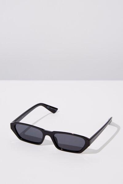 Marian Angular Sunglasses, BLACK