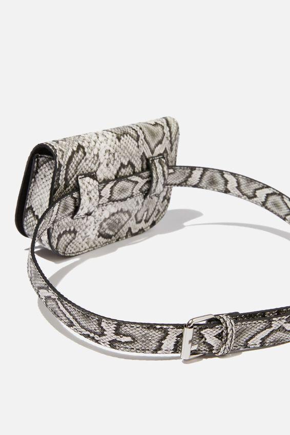 Aimee Rectangle Belt Bag, SNAKE PRINT