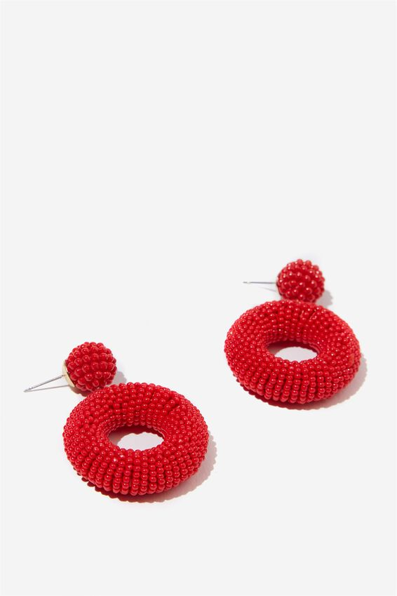 Madagascar Earring, RED