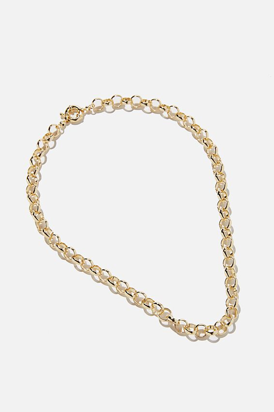 Premium Forever Necklace, GOLD PLATED CABLE CHAIN