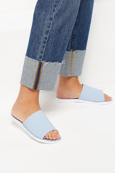 Lucy Jelly Slide, CHAMBRAY