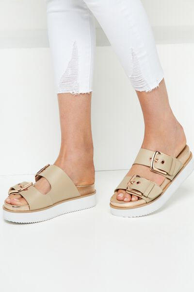 Newtown Buckle Flatform, ROSE CLOUD