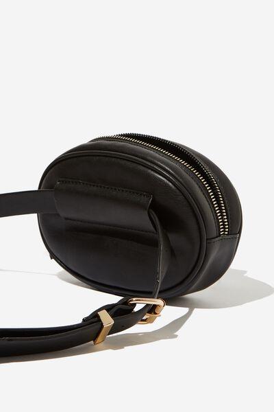 Brodie Belt Bag, BLACK QUILTED W STUDS