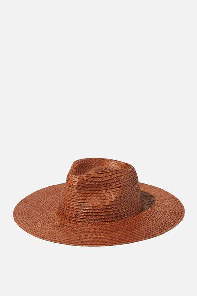Sharni Straw Panama, TAN