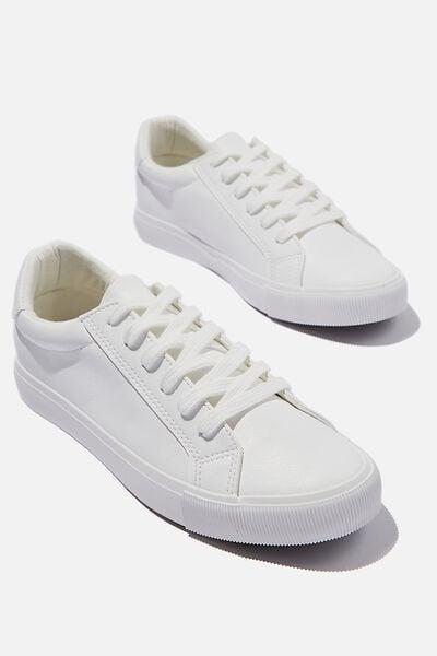 Emily Sleek Low Rise Sneaker, WHITE