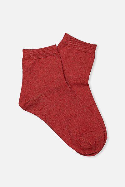 Dorothy Sparkle Sock, RED