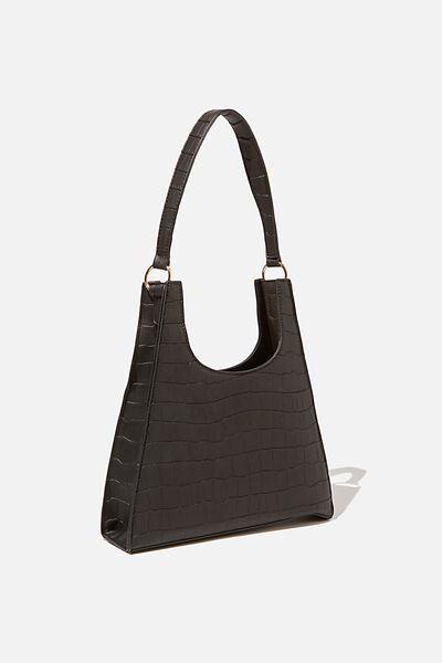 Abby Angular Bag, BLACK TEXTURE
