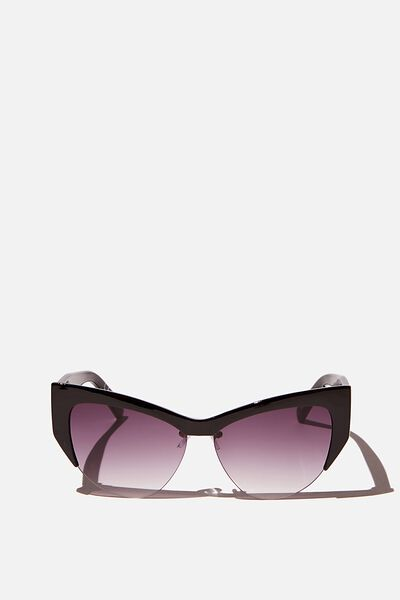 Ash Sports Cateye Limited Edition Sunglasses, BLACK